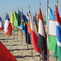 National Flags of Peace installation