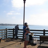 Having at look at the fish being caught - Oceanside California
